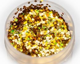 Блестка голографика золото, 1 мм
