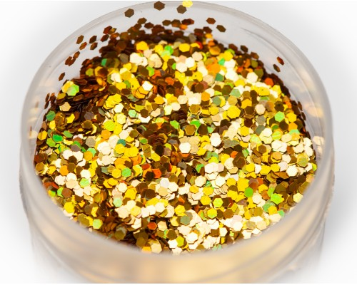 Sequin holographic gold, 1 mm