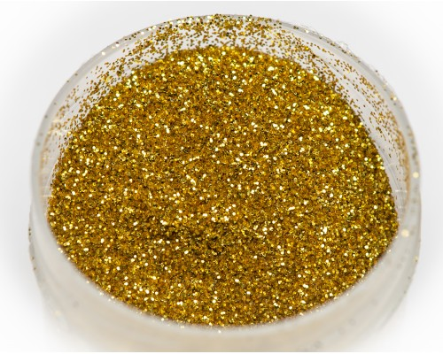 """Sequins """"gold"""" thermo, 0.2 mm"""