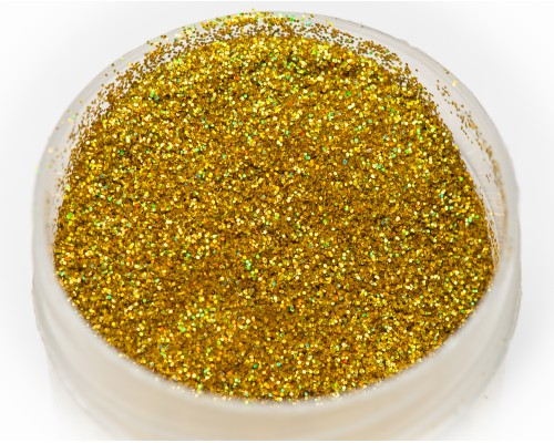 Sequin gold holographic 0.2mm