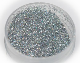 """Sequins """"silver"""" holo heat-resistant, 0.2 mm"""