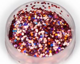 Блискітка Голографик рожева, 1 мм