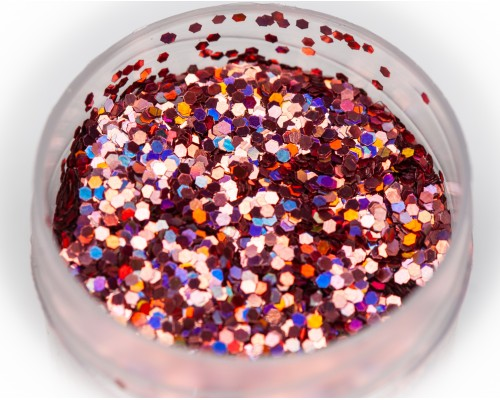 Glitter holographic pink, 1 mm