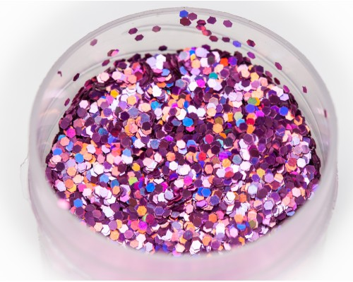 Glitter holographic lilac, 1 mm
