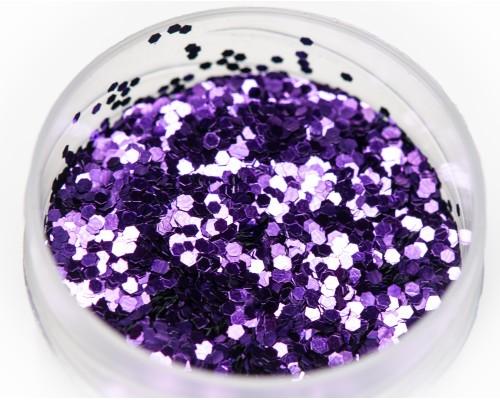 Блестка фиолетовая, 1 мм