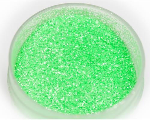 UV glitter green heat-resistant, 0.2 mm